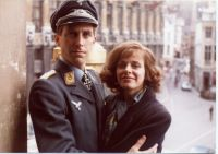 Terrence Hardiman and Angela Richards on location in Brussels © Terrence Hardiman